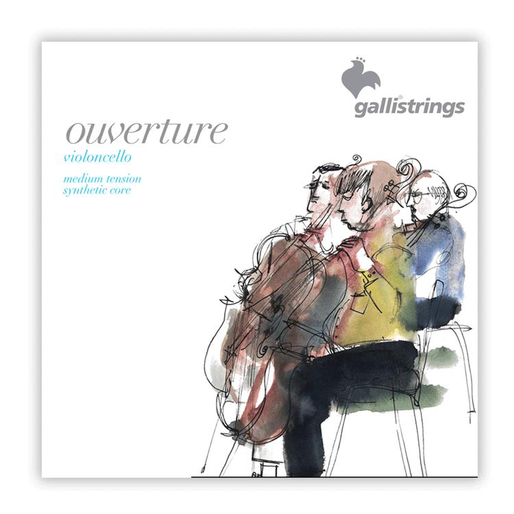 GALLI - Ouverture Cello String 3/4 set