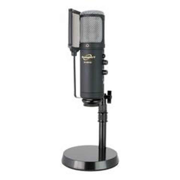USB Professional Condenser Studio Microphone Pack w/ Pop Filter, Desk Stand, USB Cable & Carry Case
