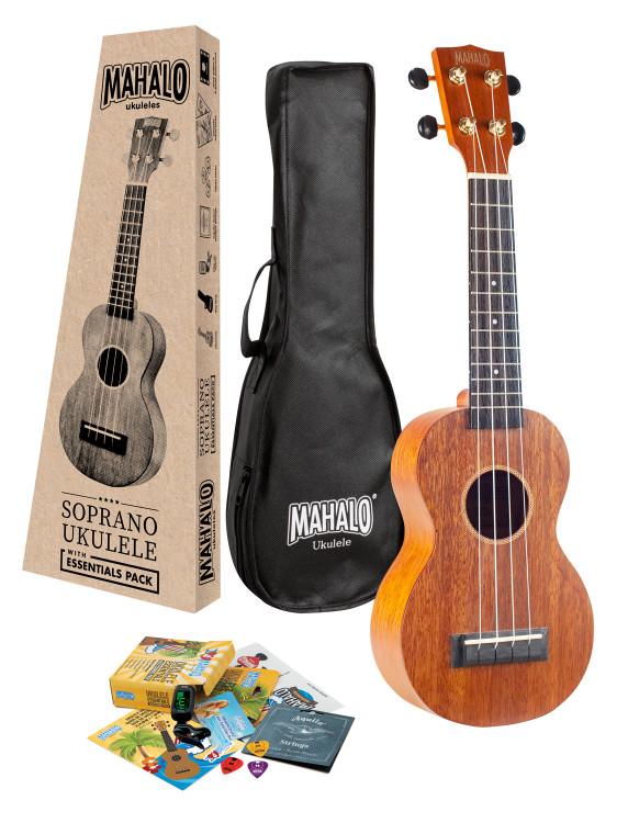 Mahalo Java Soprano Ukulele with Essentials Accessory Pack
