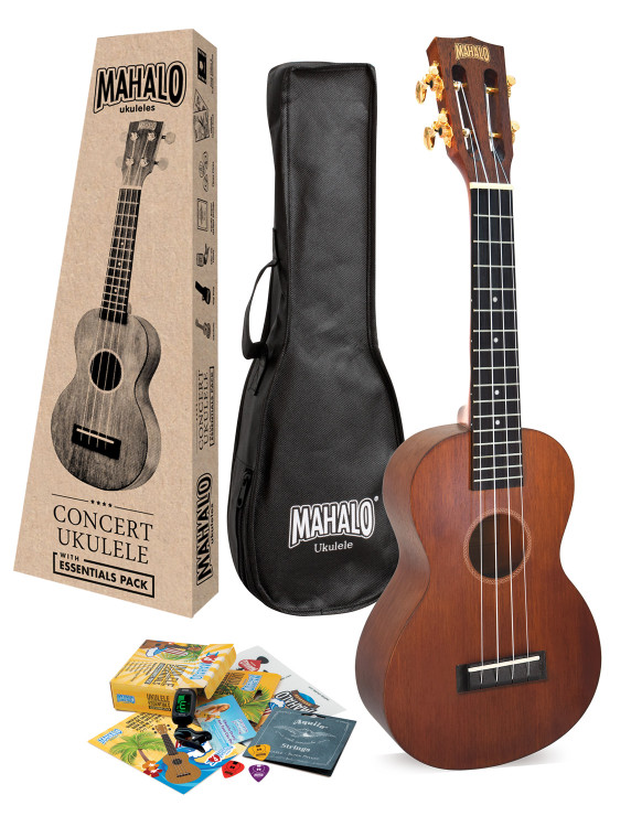 Mahalo Java Concert Ukulele with Essentials Accessory Pack