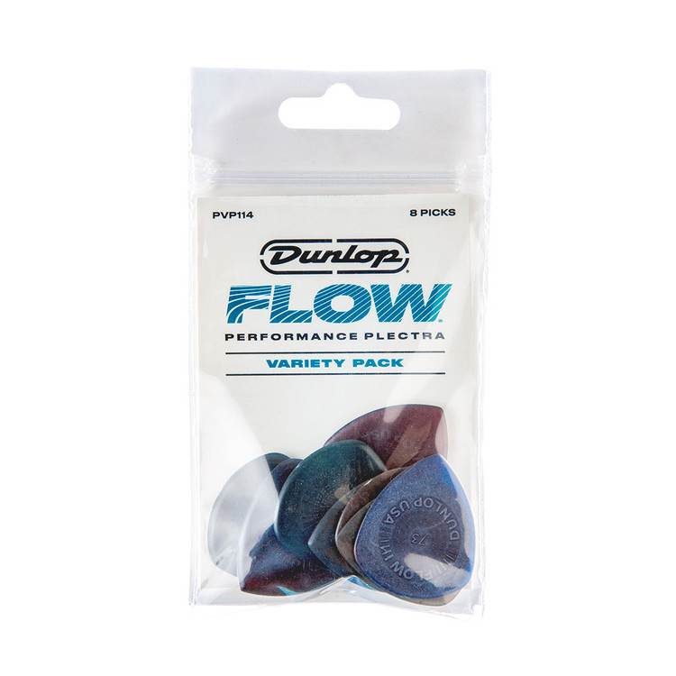 Jim Dunlop Ultex Flow with Grip - 8 Pick Variety Players Pack Guitar Picks