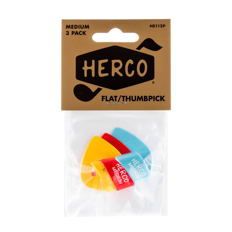HERCO Flat Thumb Guitar Pick Players Pack Medium