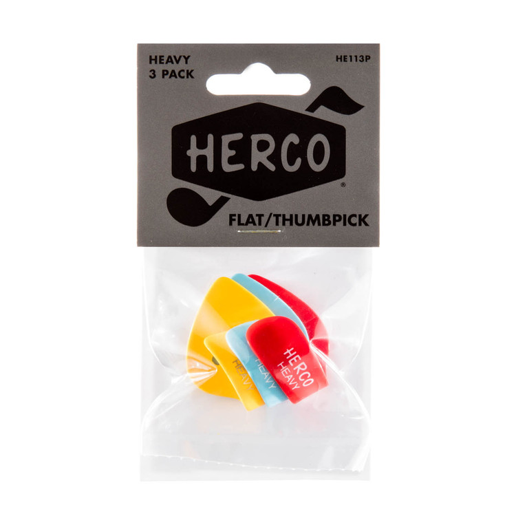 HERCO Flat Thumb Guitar Pick Players Pack Heavy