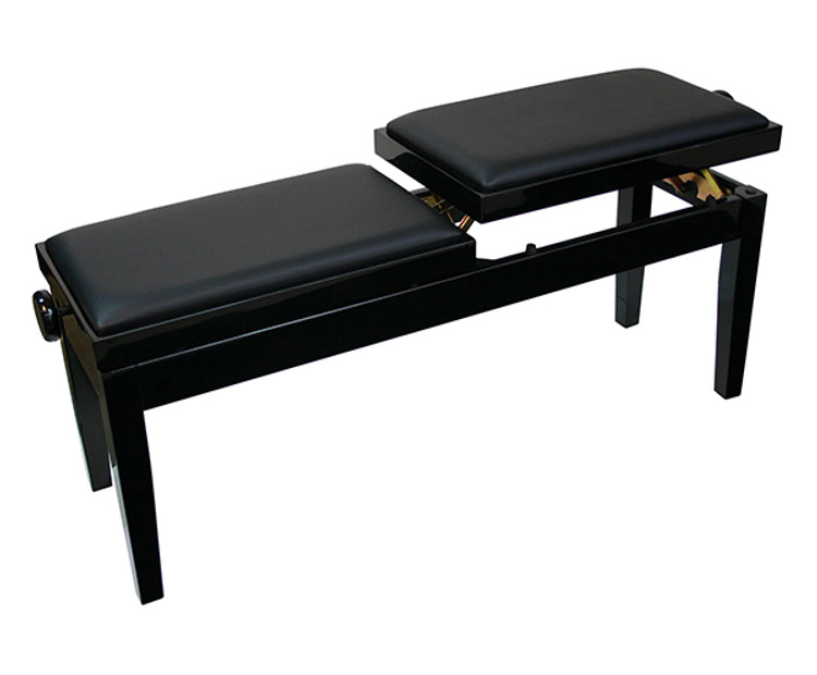 Dual Adjustable Duet Piano Bench - Black