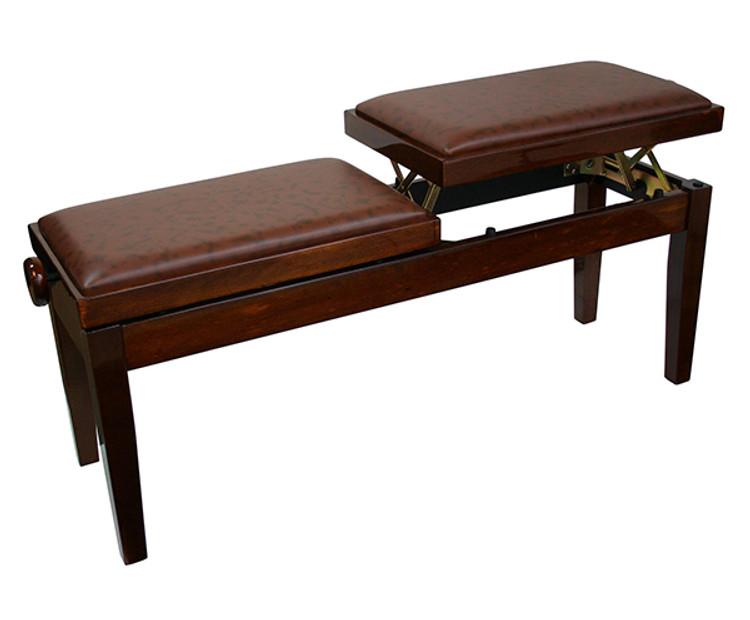 Dual Adjustable Duet Piano Bench - Walnut