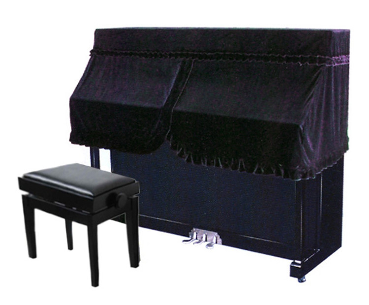 Fitted Half Cover for Upright Piano - Dark Purple UP5