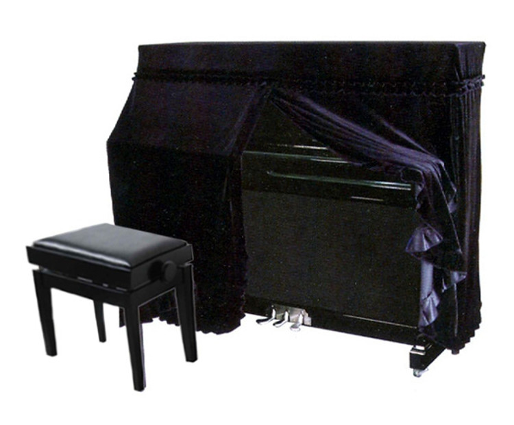 Full Fitted Cover for Upright Piano - Black UP1