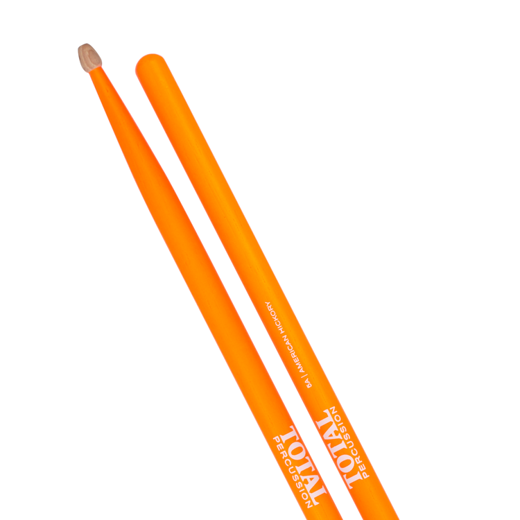 American Hickory. Fluorescent orange finish with natural tip.
