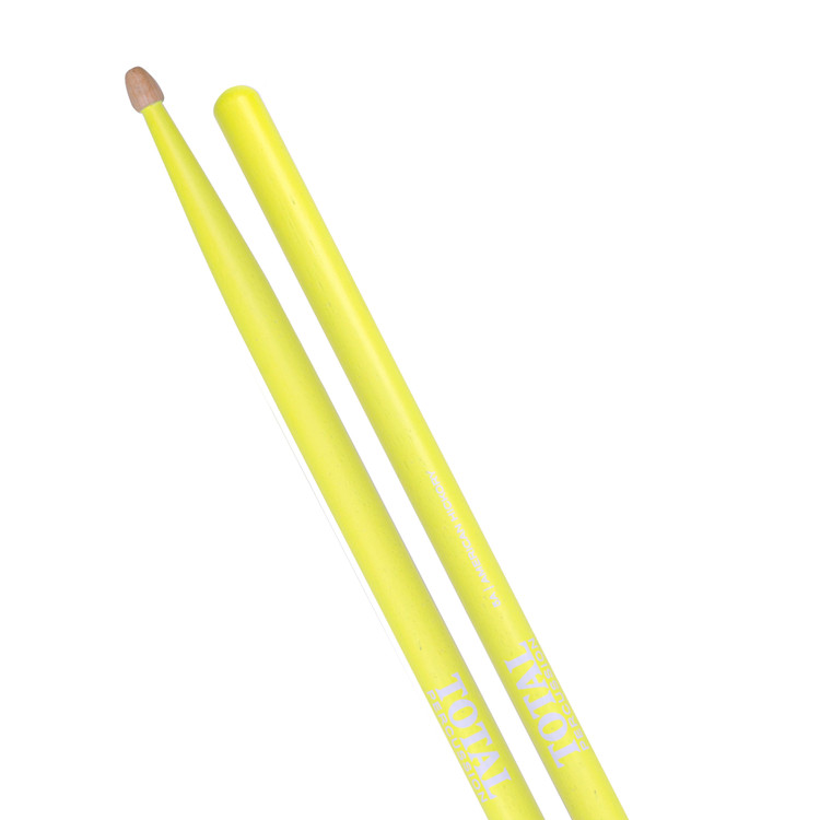 American Hickory. Fluorescent Yellow finish with natural tip.