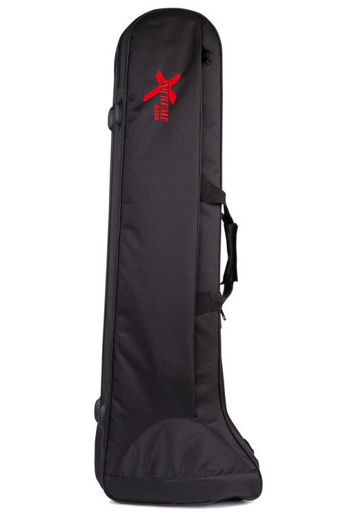 Moulded polystyrene covered in heavy duty nylon waterproof yarn. Plush lined. 2 carry handles and 2 adjustable shoulder straps. Large accessory pocket. Black with embroidered Xtreme logo.