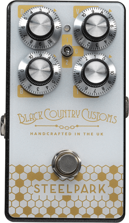 A versatile boost pedal with masses of headroom designed to help you push your amp harder and cut through any mix. Ideal for stacking either before or after other gain pedals on your board. Buffered bypass. Powered by a 9 volt battery or AC adaptor (RPC91).