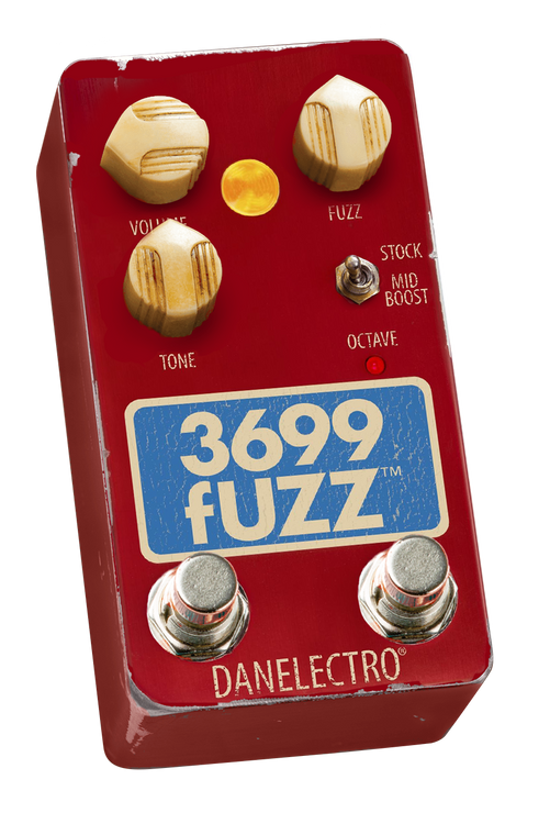 Danelectro owner Steve Ridinger created the FOXX pedal line in the 1970's. Steve priced the FOXX Tone Machine at $49. Today the coveted originals sell for over $600. Now Steve brings back his original circuit with some major tweaks: featuring a significantly more pronounced octave (foot switchable), a warmer overall tone and added a mid-boost toggle to counteract the mid cut of the original pedal. Plug your guitar into the 3699 Fuzz and bask in its velvety vintage tone.