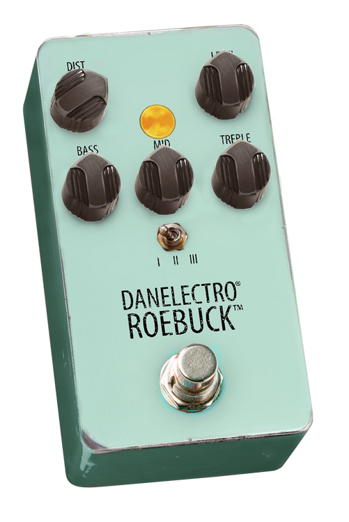 Look closely at the boards of top L.A. and Nashville players and you will see the 1990's Mostortion again and again. Danelectro brings back this awesome pedal, nailing the original tone and grit, but also adding 2 tasty clipping options. Better than ever!