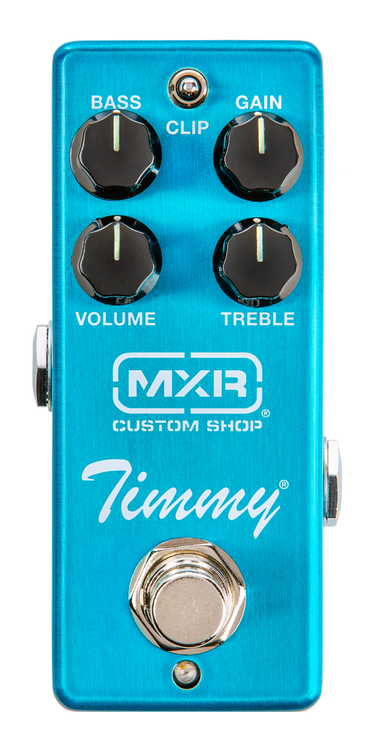 """Based on a design from veteran pedal builder Paul Cochrane that's widely celebrated among high level pros. Provides a versatile range of overdrive tones that enhance the natural sound of your guitar and amp set-up. This pedal offers players a ton of options to make the most of their playing and recording experience. Built into a MXR mini housing, the Timmy Overdrive is a dream come true for working guitar players who want a pedal that maintains a rig's personality at a fraction of the standard pedal size. True hardware bypass. Cannot be powered by a battery. Powered by 9 volt AC adaptor (ECB003)."""