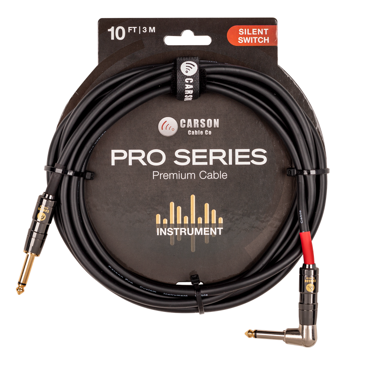 10 foot right angle Silent Switch instrument cable.