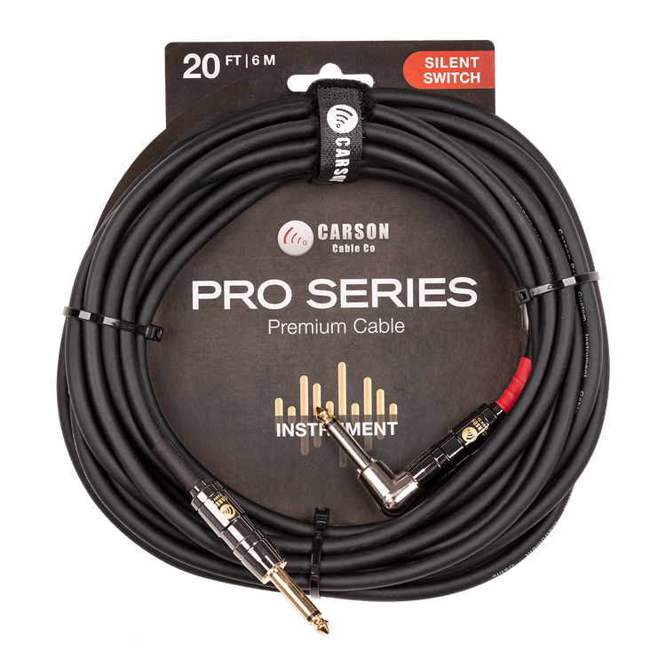 20 foot right angle Silent Switch instrument cable.