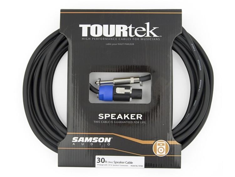 TourTek 30' Spkon to Jack Speaker Cable (9.15m)