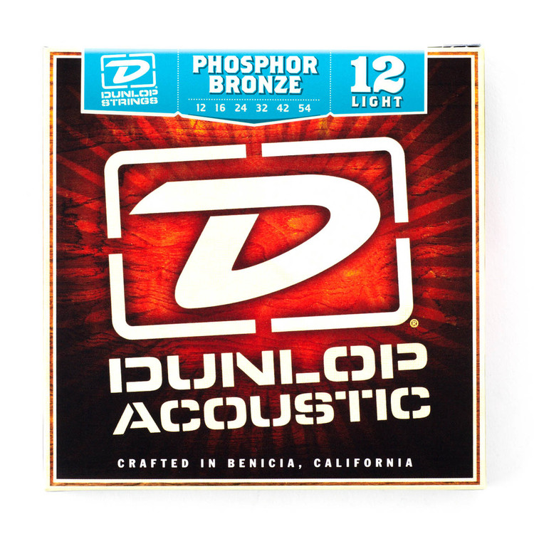 BOX OF 12 Dunlop Acoustic Guitar Strings  12/54 (Light)