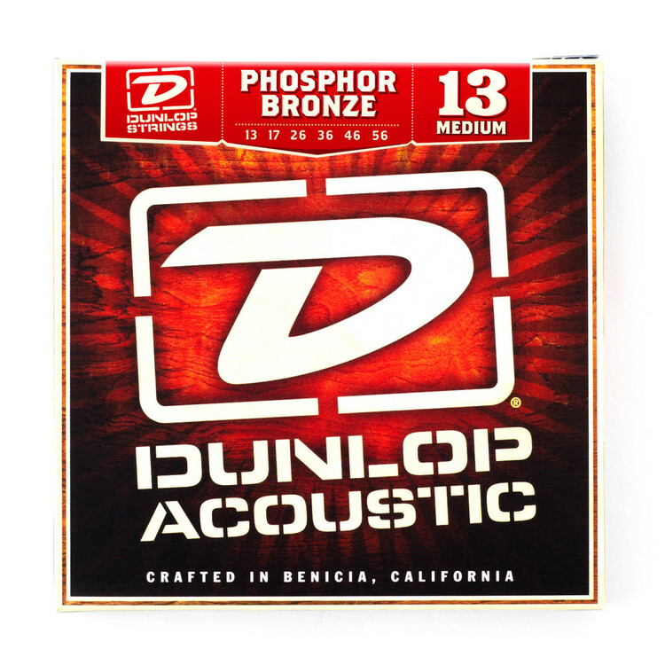 BOX OF 12 Dunlop Acoustic Guitar Strings  13/56