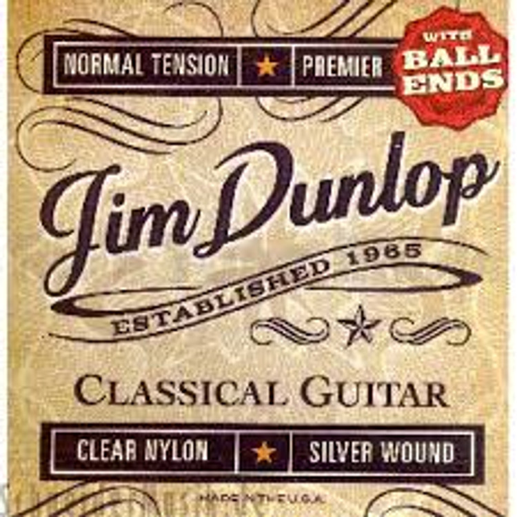 """DUNLOP   """" Classical Guitar Strings   """" Clear Nylon With Ball End   Box of 12"""