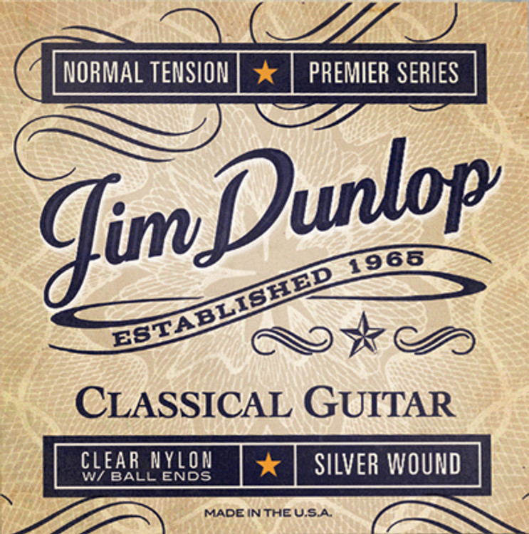 """BOX OF 12   DUNLOP   """" Classical Guitar Strings   """" Clear Nylon"""