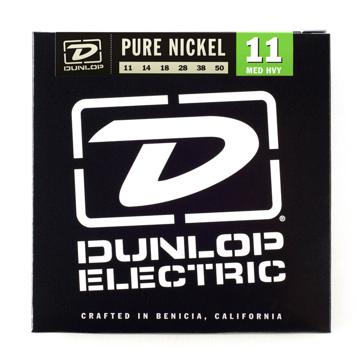 BOX OF 12 Dunlop Electric Guitar Strings 11/50 (medium/heavy)