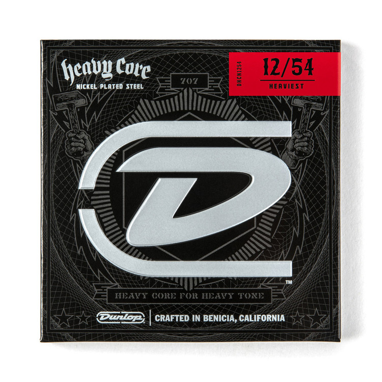 BOX OF 6  DUNLOP   Electric Heavy Core Guitar Strings   12-54