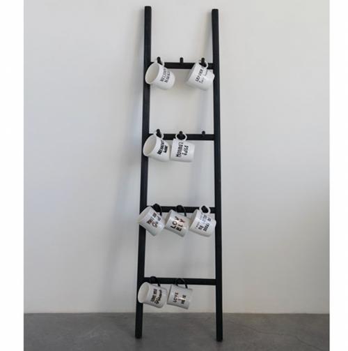 Wood Ladder w/Hooks