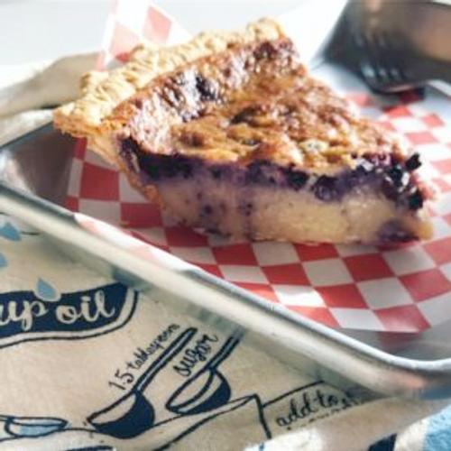 Blueberry Buttermilk Chess Pie