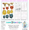 """""""CINDY's PAPER DOLL ANIMAL HEADS #1"""" Warrior Paper Doll Pack designed by Cindy Porter COLLECTION PACK (5 files)"""