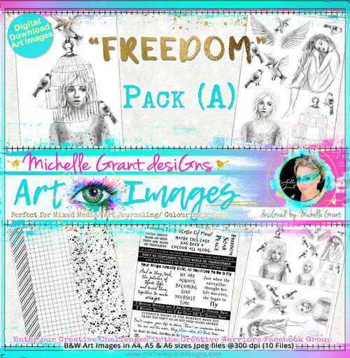 FREEDOM - PACK A - Art Image Pack - By Michelle Grant