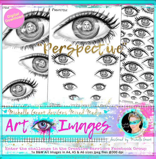 """Challenge Closed (SEPTEMBER 2021 Challenge Image) ~ The theme is  PERSPECTIVE Includes 3 Image files on A4 files. Check out all the entries in """"Michelle's Creative Warriors Facebook Group, in the Perspective Album :)"""