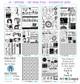 DYNAMIC - Art Image Pack by Lorri Lennox B&W & Art Images in A4, A5 & A6 sizes & 1x A4 Quote & Pattern  Sheet - 10x Digital Jpeg files @300 dpi   FULL PACK - (10 Files) HALF PACK A&B - (6 Files)