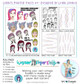 """""""LORRI'S PAINTED FACES #1"""" Warrior Paper Doll Pack designed by LORRI LENNOX COLLECTION PACK (5 files)"""