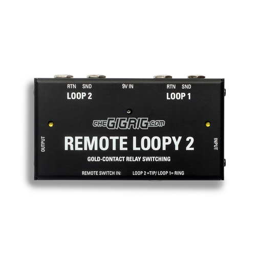 The GigRig Remote Loopy 2- Remote Dual Loop Audio Switcher