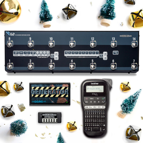 The GigRig G2 Christmas Bundle: G2 ( with Free Generator with US power Lead) Plus Free Distributor ( 6 DC leads included) Plus Free Hand held Label Maker