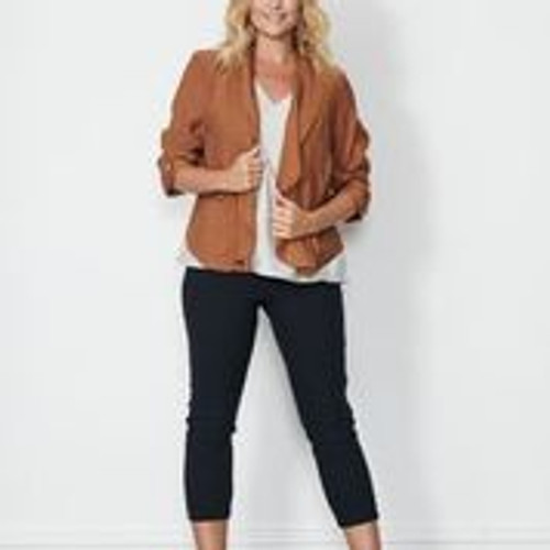 Jacket With Back Feature - Rust