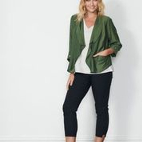 Jacket With Back Feature - Basil