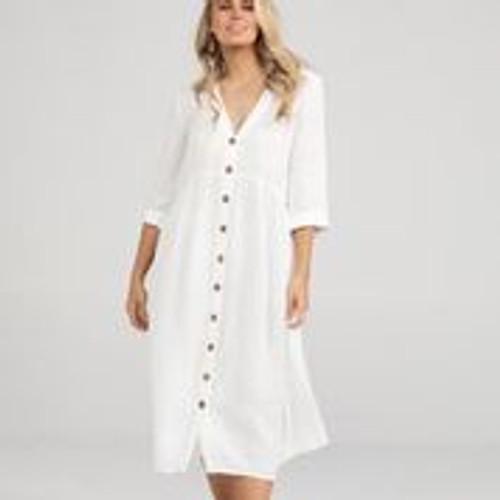 Ines Dress - White
