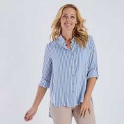 Striped Shirt - Blue And White