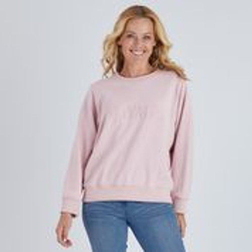 Voyage Embroidered Sweat - Pink