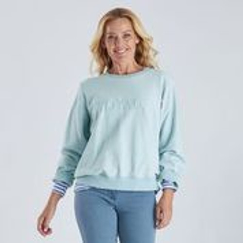 Voyage Embroidered Sweat - Blue