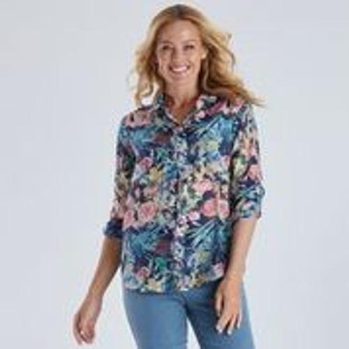 Floral Print Shirt - Blue