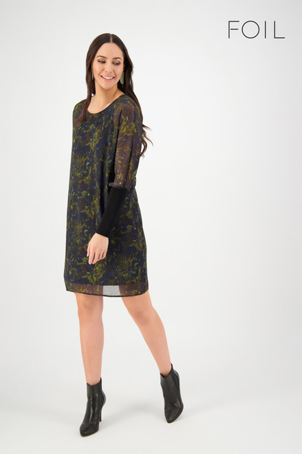 Off The Cuff Dress - Khaki Floral