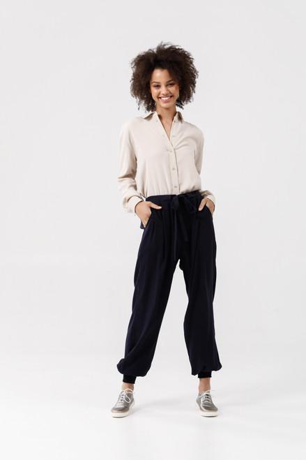 Fossick Pants - Navy Tencel