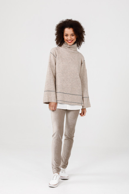 Whistler Knit - Natural + Charcoal