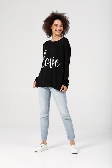 Petra Love Knit - Black + Off White