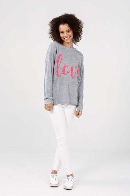 Petra Love Knit - Hot Pink + Grey