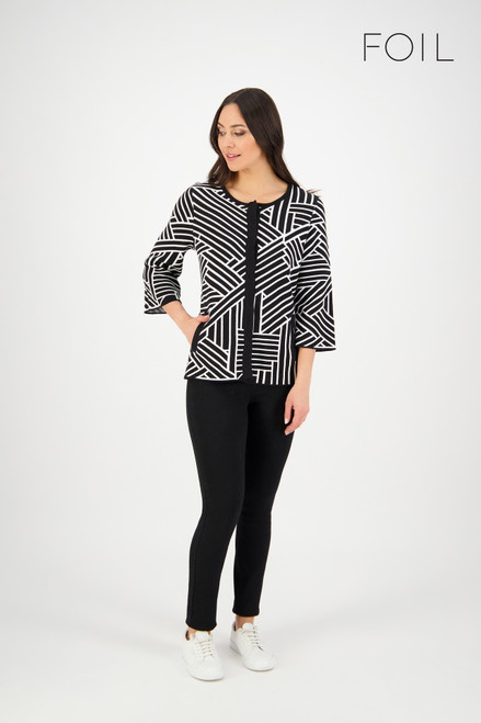 Amazed By You Cardigan - Black/Winter White