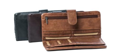 Nova Ladies Leather Wallet - Cognac